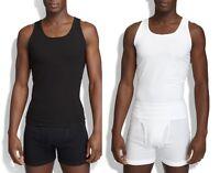 Spanx Men's Shapewear,Cotton Compression Tank  Top 611 Shirt Tee Black White