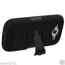 Samsung Galaxy S3 i9300 Hybrid H Armor Hard Case Skin Cover w/Stand Black