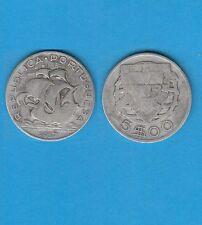 § Portugal  Bateau Boat  Silver Coin  5 Escudos argent  1937
