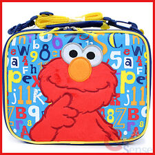 Sesame Street Elmo School Lunch Bag Kids Insulated Box - 123 ABC
