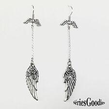 bijou celtic celtique gothique médiéval boucles d'oreilles ailes d'ange fleurs