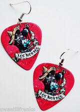 DAY OF THE DEAD LOS NOVIOS GUITAR PICK EARRINGS! MUERTOS MEXICAN WEDDING LOVE