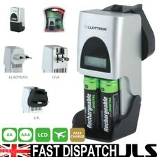 Fast Travel Charger AAA AA  Rechargeable Battery LCD