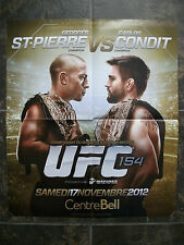 GEORGES ST-PIERRE vs CARLOS CONDIT **UFC 154** POSTER NOV. 2012 MONTREAL, FRENCH
