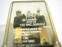 DAYTON  5YP78  RELAY 120VAC  DPDT 10 AMP 8 PIN BASE  ~