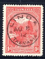 Tasmania nice LINDA 1912 postmark (type 1) on 1d pictorial rated common (2)