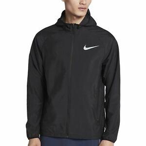 Nike Essential Teen Men's Running Jacket Swoosh Classic Logo - Black
