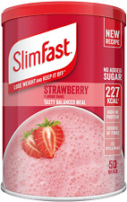 SlimFast Meal Shake, Caramel Flavour, New Recipe, 12 Servings, Lose Weight and K