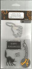 Hampton Art Halloween Stamps & Die Set Black Cat  #621