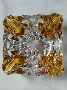 Aschenbecher im tollen Look, Kristall - 2 farbig, schwer