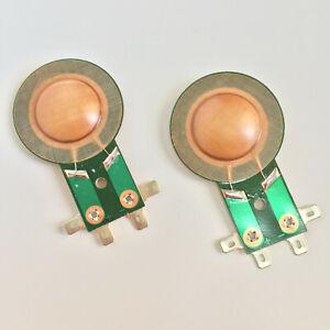 """2Pcs 1"""" Replacement Diaphragm For P-Audio HT-406, HT406 Compression Driver 8Ohms"""