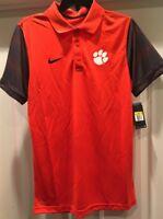 f8d49a43 Clemson Tigers Nike Men's Early Season Polo Shirt Small S NWT Orange  815905-888