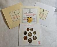 1986 Royal Mint UK Brilliant Uncirculated Coin Set OGP - 8 Coins
