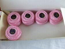 DMC boite 5 pelotes de 10 grammes COTON PERLE 8 N° 776 rose ,art 116