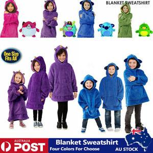 Children Kid Blanket Sweatshirt Soft Warm Winter Oversized Fleece Blanket Hoodie