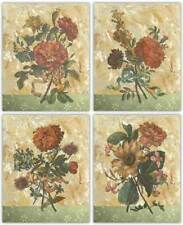 Antiquarian Roses~Bouquet I-II~Sunflowers~Set 4 Floral Flower 8 x 10 Art Prints
