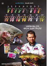 6 leurre souple Allure CRAZY FISH 52mm  pêche streetfishing perche bass chub