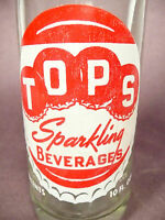 vintage ACL Soda POP Bottle: TOPS of MANSFIELD, OHIO - 10 oz ACL