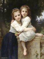 WILLIAM ADOLPHE BOUGUEREAU AT EDGE OF BROOK OLD MASTER PAINTING PRINT 3108OMLV