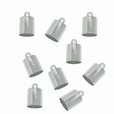 48 Nickel Steel Tone Plated Brass Cord End Cap 6x10x6mm, Hole:5.5mm