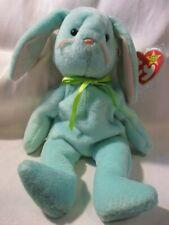 "TY Beanie Babies Original ""Hippity"" Green Bunny 1996 w/7 Errors P.V.C. Pellets"