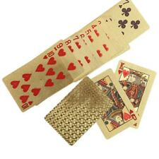 Durable Waterproof Plastic Fake Gold Foil Coated Poker Game Playing Cards Check
