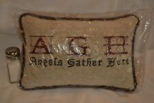 """Decorative Pillow """"Angels Gather Here"""" 12"""" x 8"""" x 4"""""""