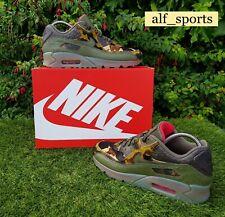 "❤ BNWB & Genuine Nike ® Air Max 90 ""Croc Camo"" Khaki Green Trainers UK Size 8.5"