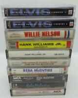 10 Country Music Cassette Tape Lot (Lot 110) Elvis / Reba McEntire / Willie