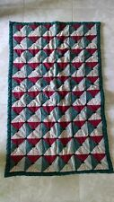 Handmade Handcrafted Baby Toddler Lap Crib Quilt – 1998