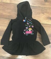 Dora Nick Jr. Hooded Sweatshirt With Button Girls Size 3T