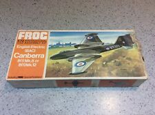 Vintage Frog F203 1:72 ENGLISH ELECTRIC BAC CANBERRA B1 - Unmade Model Plane Kit