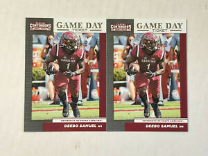 DEEBO SAMUEL LOT OF 5 2019 Panini Contenders Game Day Tickets RC INSERTS #31!