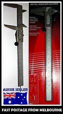 """AU 150mm 6"""" Steel Metal Metric and Imperial Vernier Caliper Depth Measurement"""