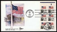 #1896a 20c Flag Over Supreme Court w/ Selvage, Gill Craft FDC **ANY 4=FREE SHIP