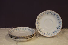"SET OF 4 ROYAL ALBERT MEMORY LANE 5-1/2"" SAUCERS - FORGET-ME-NOT FLOWER"