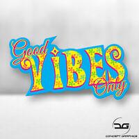Good Vibes Only Funny Retro Drift Car Laptop JDM Euro DUB Vinyl Decal Sticker