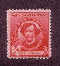 Scott #885 1940 2¢ James A. McNeill Whistler Famous Americans Artists - MH/OG