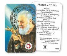 Religous Holy Card / Prayer Card with Relic : Saint Pio
