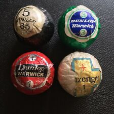 4 X WRAPPED GOLF BALLS, DUNLOP AND SLAZENGER, VINTAGE, COLLECTABLE.