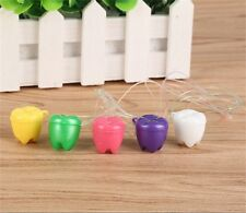 New Plastic Baby Teeth Case Milk Teeth Box Deciduous Flower Shape Holer  Z S5