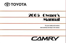 2005 Toyota Camry Owners Manual User Guide Reference Operator Book Fuses Fluids