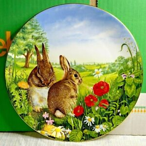 Royal Doulton-Fine Bone China Plate-Country Wildlife Collection-Country Run-1990