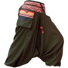 Mens / Womens Gypsy Hippie Aladdin Hmong Baggy Brown Harem Pants Hammer Trousers