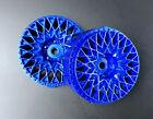Tetsujin GRANSEEKER Wheels INSERTS Disk Adjustable Offset - Metallic BLUE - 4PCS
