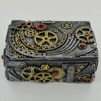 Steampunk Trinket Box Secret Stash Ornament for Study or Office Home Decoration