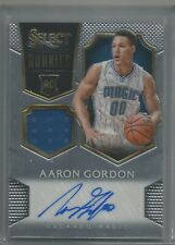 AARON GORDON 2014-15 Panini Select Rookie RC Relic/Auto Autograph Orlando Magic