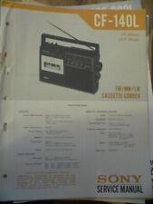 Sony CF-140L Cassette Receiver Service Manual