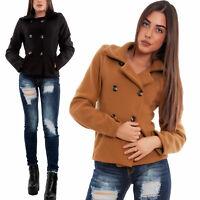 Giacca donna corto panno doppiopetto cappotto giaccone avvitato TOOCOOL VB-8149