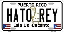 HATO REY PUERTO RICO NOVELTY STATE BACKGROUND METAL LICENSE PLATE